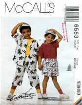 McCall's 6553 Shirt T-Shirt Shorts Duffel Bag Hat Size 3 - 4