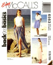McCall's 6563 Sewing Pattern Misses Wrap Skirt Size 4 - 6