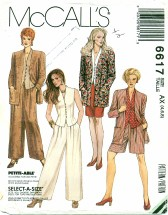 McCall's 6617 Jacket Top Skirt Pants Shorts Size 4 - 8
