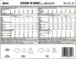 McCall's 6644