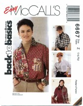 McCall's 6667 Front Button Shirts Size 16 - 22