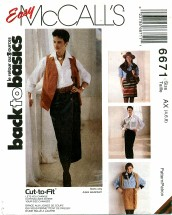 McCall's 6671 Wrap Skirts in Two Lengths Size 4 - 8