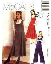 McCall's 6672 Dress Jumper Jumpsuit Blouse Size 8 - 12 - Bust 31 1/2 - 34