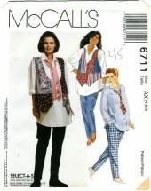 McCall's 6711 MATERNITY Vest Shirt Leggings Tie Size 4 - 8