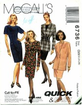 McCall's 6736 Jacket & Dress Size 22 - 26