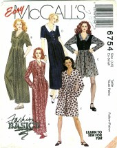 McCall's 6754 Misses Jumpsuit & Dress Size 4 - 6