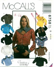 McCall's 6758 Misses Shirts Size 8 - 12