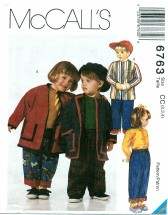 McCall's 6763 Jacket Top Pants Size 2 - 4