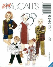 McCall's 6846 Nightshirt & Pajamas Size 7