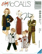 McCall's 6846 Nightshirt & Pajamas Size 8 - 10