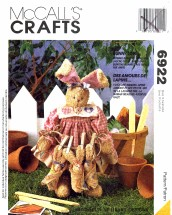 McCall's 6922 Crafts Sewing Pattern Stuffed Bunnies Bunny Love