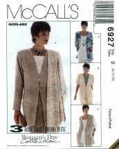 McCall's 6927 Three Hour Jacket & Scarf Size 8 - 12
