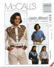 McCall's 6961 NANCY ZIEMEN Long Sleeve Shirts Size 10 - 14