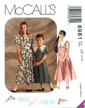 McCall's 6981 SPECIAL MOMENTS Dress Size 4 - 6