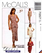 McCall's 7057 Sewing Pattern Misses Jacket Vest Dress Skirt Belt Size 8 - 10 - 12