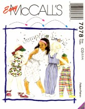 McCall's 7078 Sewing Pattern Childrens Top Pants Shorts Size 2 - 4