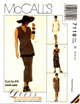 McCall's 7119 Jacket Dress Skirt Size 8 - 12