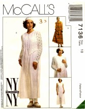 McCall's 7136 Dress Jacket Leggings Hat Size 10 - Bust 32 1/2