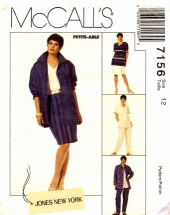 McCall's 7156 Sewing Pattern Jacket Top Skirt Pants Size 12 - Bust 34