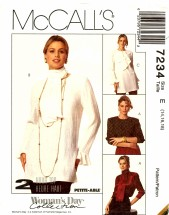 McCall's 7234 Blouse & Scarf Size 14 - 18 - Bust 36 - 40