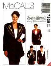 McCall's 7329 Nancy Ziemen Jacket with Detachable Collars Size 10
