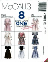 McCall's 7363 Dresses in 8 Great Looks Size 4 - 6