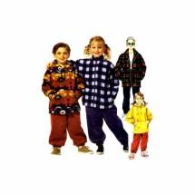 1990s Girls Boys Jacket Top Pants McCalls 7378 Sewing Pattern Size 4 - 5 - 6