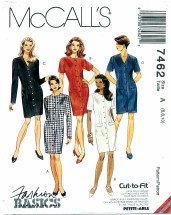McCall's 7462 Misses Fitted Dress Size 6 - 10