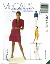 McCall's 7694 Jackets Top Pants Shorts Size 12 - Bust 34