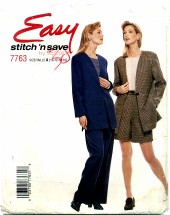 McCall's 7763 Misses Jacket Top Pants Shorts Size 10 - 16