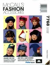 McCall's 7768 Kids Hats