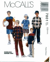 McCall's 7801 Top Pants Shorts Size 2 - 4