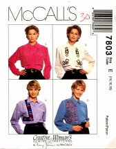 McCall's 7803 Sewing Pattern Nancy Zieman Creative Blouse Size 14 - 18