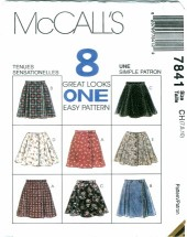 McCall's 7841 Girls Skirts Size 7 - 10