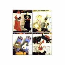 McCalls 7864 Sewing Pattern Angel and Santa Stocking
