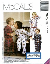 McCall's 7975 Toddlers Pajamas Size 1 - 3