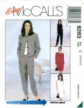 McCall's 8263 Jacket Dress Top Pants Skirt Size 10 - 14