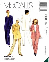 McCall's 8368 Top and Pants Size 8 - 12 - Bust 31 1/2 - 34