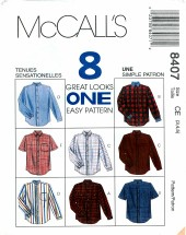 McCall's 8407 Boys Shirts Size 3 - 5