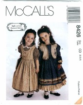 McCall's 8426 Girls Dress Jumper Vest Size 2 - 4