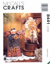 McCall's 8441 Crafts Sewing Pattern Angel Dolls