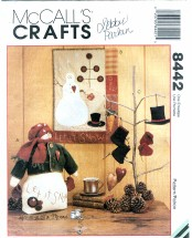 McCall's 8442 Crafts Snowman Quilt & Ornaments