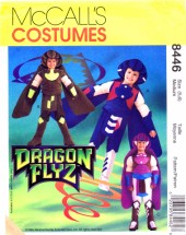 McCall's 8446 Sewing Pattern Dragon Flyz Costumes Size 5 - 6