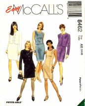 McCall's 8462 Sewing Pattern Misses Dress Top Jacket Skirt Size 4 - 6 - 8