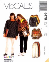 McCall's 8479 Sewing Pattern Girls Tops Pants Shirt Size 7