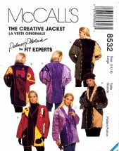 McCall's 8532 Sewing Pattern Full Figure Creative Jacket Palmer & Pletsch Size 16 - 18