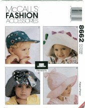 McCall's 8662 Fashion Accessories ABBE GALE Boys & Girls Hats