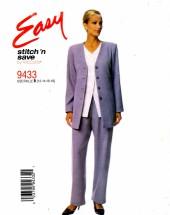 McCall's 9433 Jacket Vest Pants Size 12 - 18 - Bust 34 - 40