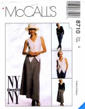 McCall's 8710 Sewing Pattern Womens Jacket Vest Pants Skirt Size 4 Bust 29 1/2