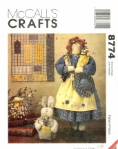McCall's 8774 Crafts Sewing Pattern Garden Doll Quilt Bunny